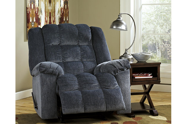 Ludden Recliner, Blue, large