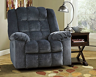 Ludden Power Recliner, Blue, large