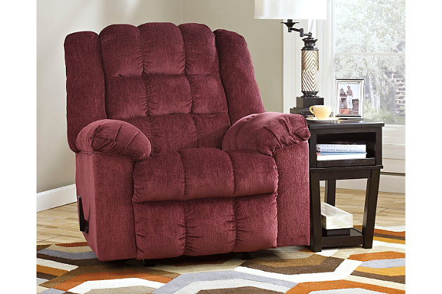 Ludden Recliner by Ashley HomeStore, Red, Polyester (100 %)