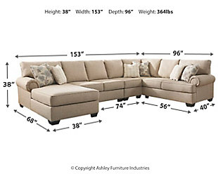 Baceno 4-Piece Sectional with Chaise, , large