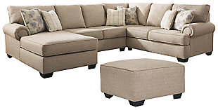 Baceno 3-Piece Sectional with Ottoman, , large