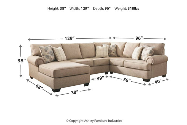 Baceno 3-Piece Sectional with Chaise, , large