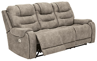 Yacolt Power Reclining Sofa, Fog, large