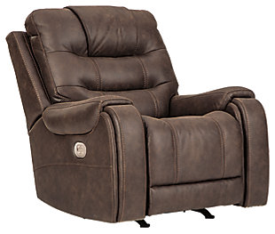 Yacolt Power Recliner, Walnut, large