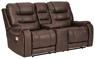 Yacolt Power Reclining Loveseat with Console, , large