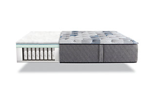 iComfort Hybrid Blue Fusion 200 Plush Twin Mattress, Gray/Blue, large