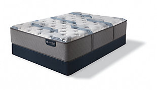 iComfort Hybrid Blue Fusion 200 Plush Twin XL Mattress, Gray/Blue, rollover
