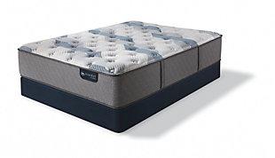 iComfort Hybrid Blue Fusion 200 Plush Queen Mattress, Gray/Blue, rollover