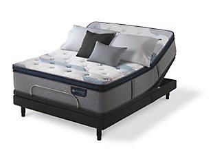 iComfort Hybrid Blue Fusion 300 Plush Pillow Top Twin Mattress, Gray/Blue, large