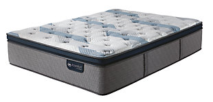 iComfort Hybrid Blue Fusion 300 Plush Pillow Top Twin Mattress, Gray/Blue, large