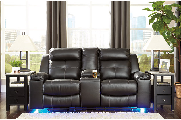 Kempten Reclining Loveseat with Console, , large