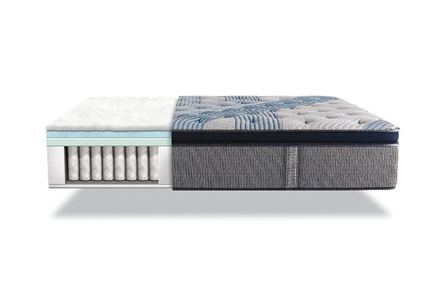 iComfort Hybrid Blue Fusion 1000 Plush Pillow Top Queen Mattress, Gray/Blue, large