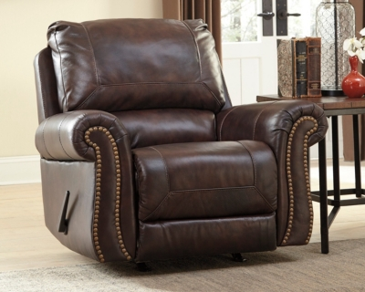 Walnut Leather Recliner Product Photo 986