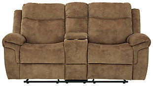 Huddle-Up Glider Reclining Loveseat with Console, , large
