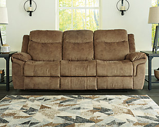 Huddle-Up Reclining Sofa with Drop Down Table, , rollover