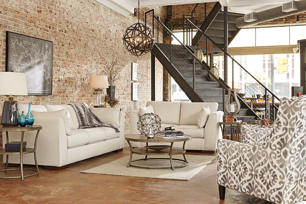 Pierin sofa ashley furniture home store for Industrial chic living room