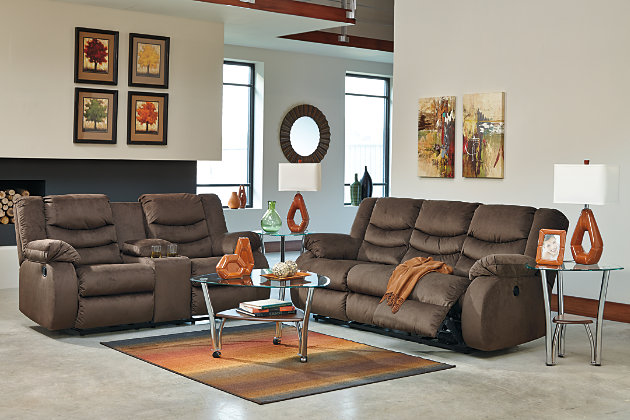 Idea for decorating your living room & Chivington Reclining Loveseat with Console | Ashley Furniture ... islam-shia.org