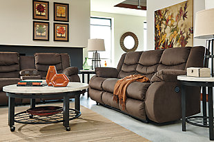 Chivington Reclining Sofa, Earth, large