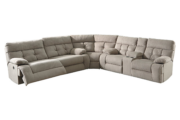 Ashley Living Room Furniture overly 3-piece sectional with power | ashley furniture homestore
