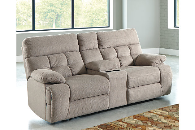 Overly Reclining Loveseat with Console