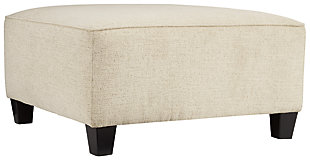 Abinger Oversized Accent Ottoman, Natural, large