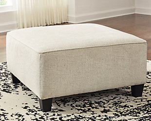 Abinger Oversized Accent Ottoman, Natural, rollover
