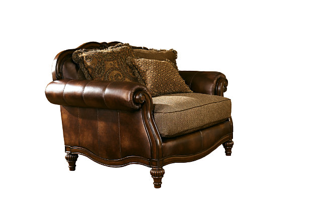 Oversized Chair Chocolate Fielding View 4