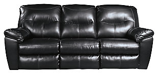 Kilzer Reclining Sofa, Black, large