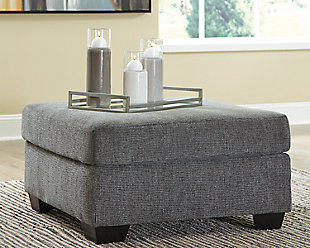 Dalhart Oversized Accent Ottoman, Charcoal, rollover
