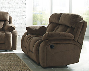 Stricklin Power Reclining Loveseat, Chocolate, rollover