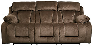 Stricklin Reclining Sofa, Chocolate, large