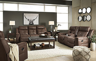 Jesolo Sofa, Loveseat and Recliner, Coffee, large