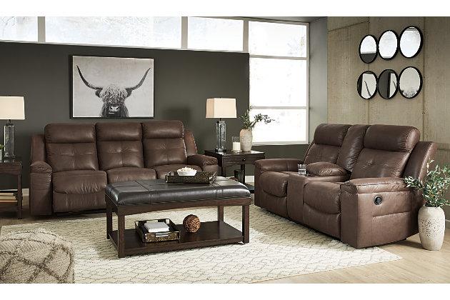 Jesolo Reclining Sofa, Coffee, large