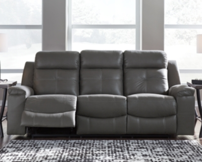 Jesolo Reclining Sofa, Dark Gray, large