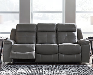 Jesolo Reclining Sofa, Dark Gray, rollover
