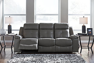 Jesolo Sofa and Loveseat, Dark Gray, large