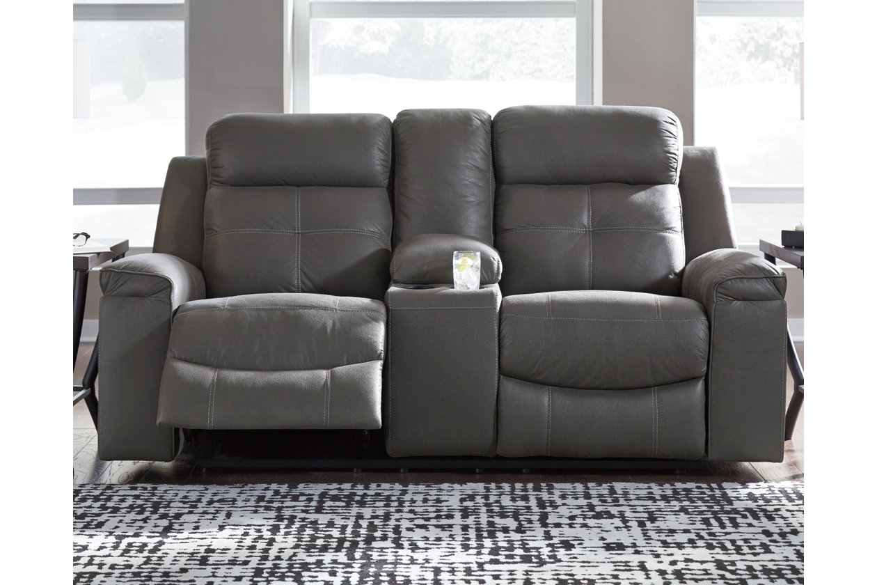 Brilliant Jesolo Reclining Loveseat With Console Ashley Furniture Bralicious Painted Fabric Chair Ideas Braliciousco