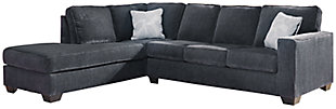 Altari 2-Piece Sleeper Sectional with Chaise, Slate, large