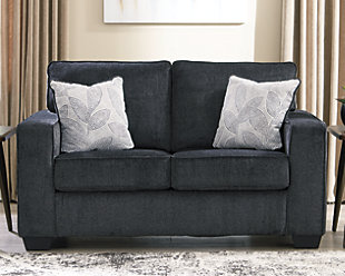 Altari Loveseat, Slate, large