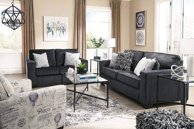 Altari Queen Sofa Sleeper, Slate, large