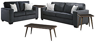 Altari Sofa and Loveseat with Coffee Table and 2 End Tables, , large