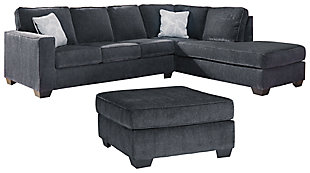 Altari 2-Piece Sectional with Ottoman, Slate, large