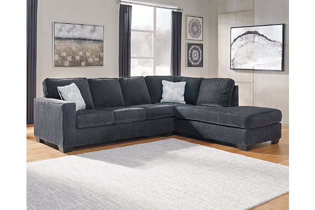 Altari 2-Piece Sectional with Chaise, Slate, large
