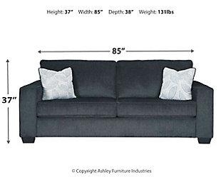 Altari Sofa, Slate, large