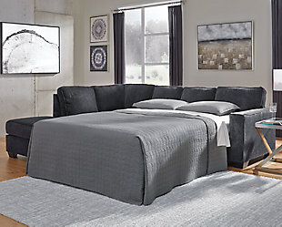 Altari 2-Piece Sleeper Sectional with Chaise, Slate, rollover