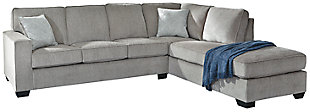 Altari 2-Piece Sleeper Sectional with Chaise, Alloy, large