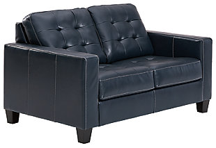 Altonbury Loveseat, Blue, large
