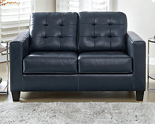 Altonbury Loveseat, Blue, rollover