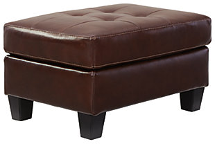 Altonbury Ottoman, Walnut, large