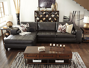 Nokomis 2-Piece Sectional, Charcoal, large